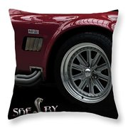 Shelby Cobra Sports Car Throw Pillow