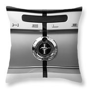 Shelby Ford Mustang Trunk Lid And Badge In Black And White Throw Pillow