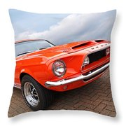 Shelby Gt500kr 1968 Throw Pillow