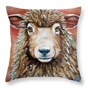 Shelby Throw Pillow by Laura Carey