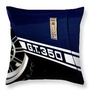 Shelby Mustang G T 350 Cobra Throw Pillow