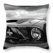Shelby Super Snake Mustang Grille And Headlight Throw Pillow