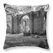 Sheldon Church Ruins Throw Pillow