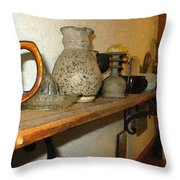 Shelf With Things Treasured Throw Pillow