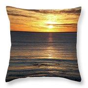 Shell Beach Sunset Throw Pillow