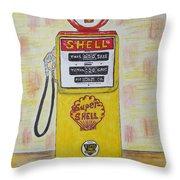 Shell Gas Pump Throw Pillow