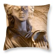 Shell In Hand Throw Pillow