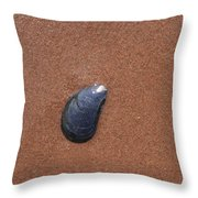 Shell In The Sand Throw Pillow