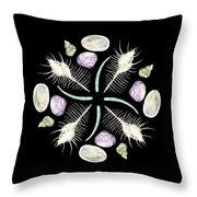Shell Mandala - Philippines - Watercolor Throw Pillow