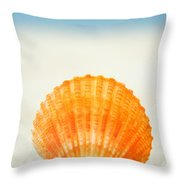 Shell On Beach Throw Pillow