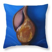 Shell On Blue Part II Throw Pillow