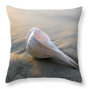 Shell On The Beach Throw Pillow