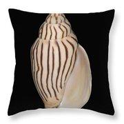 Shell Pattern - Bw Throw Pillow
