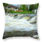 Shell Rock Iowa Dam 2 Throw Pillow
