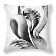 Shell-shaped Buiding From The Land Of Absurd Throw Pillow