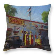Shell Station Brown County Throw Pillow