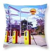 Shell Station Throw Pillow