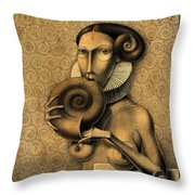 Shell Eater Throw Pillow