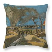Shelling The Duckboards Throw Pillow