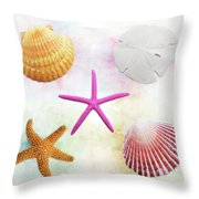 Shells Background Throw Pillow