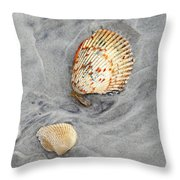 Shells On The Beach II Throw Pillow