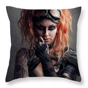 Shelly 1 Throw Pillow