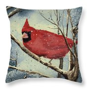 Shelly's Cardinal Throw Pillow
