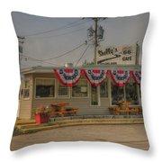 Shellys Route 66 Cafe Cuba Mo Dsc05554 Throw Pillow