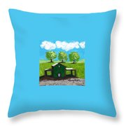 Shelter Of The Most High Throw Pillow