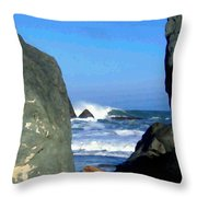 Sheltered From The Wind Throw Pillow