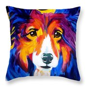 Sheltie - Missy Throw Pillow by Alicia VanNoy Call