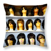 Shelved Sisters Throw Pillow