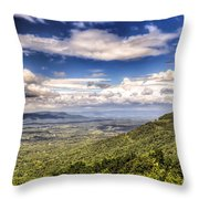 Shenandoah National Park - Sky And Clouds Throw Pillow