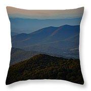 Shenandoah Valley At Sunset Throw Pillow