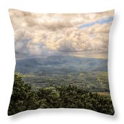 Shenandoah Valley - Storm Rolling In Throw Pillow