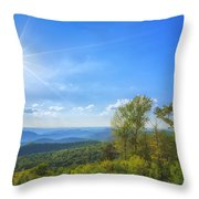 Shenandoah's The Point Overlook Throw Pillow