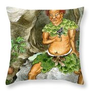 Shennong, Chinese Deity Of Medicine Throw Pillow