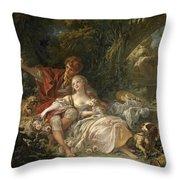 Shepherd And Shepherdess Throw Pillow
