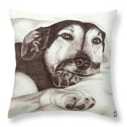 Shepherd Dog Frieda Throw Pillow