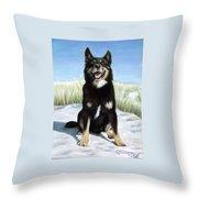 Shepherd Mix Timmy Throw Pillow