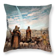 Shepherds Field Painting Throw Pillow
