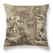 Shepherds In Arcadia Throw Pillow