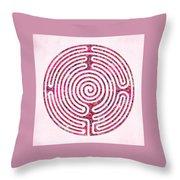 Shepherd's Race - Rose Throw Pillow