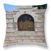 Shepherds Village Throw Pillow