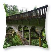 Shepperds Dell Bridge Throw Pillow