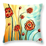 Sherbert And Powder Blue Skies Throw Pillow
