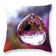 Sherbet Crystal Teardrop Throw Pillow