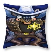 Sheriff Dillo Throw Pillow