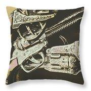 Sheriff Guns Throw Pillow