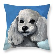 Sherman - Poodle Pet Portrait Throw Pillow